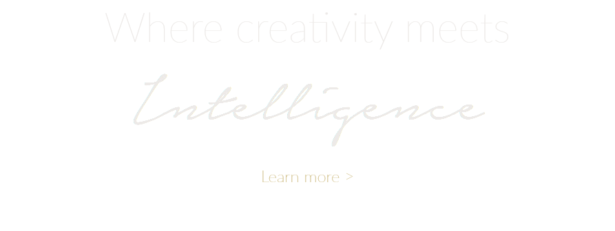 Where creativity meets Intelligence Learn more >
